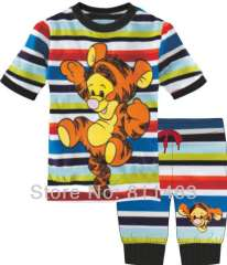Baby short sleeve striped tiger cotton pajamas #CP-015 \ wholesale & retail \ free shipping