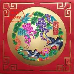 Unique paper cutting painting core decorative painting gifts abroad