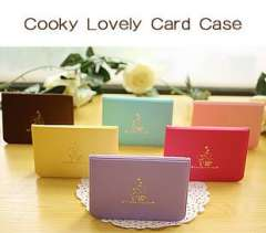 Stationery biscuits girl leather card holder 12 place card 6