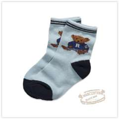 Rtw 2012 Winter Children's Clothing Color Block Decoration Bear Jacquard Socks Rkca23444