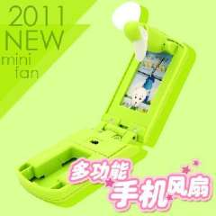 Great small partners | multifunction phone mini fan | Green