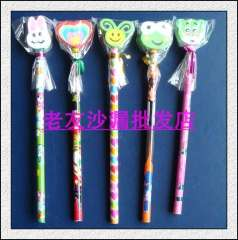 Cartoon rubber pencil gift pencil infant cartoon pen pencil