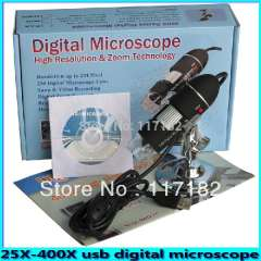 2.0Mega Pixel USB Digital Microscope 400x Zoom SE-M400, with Microscopic measurement software 25-400x