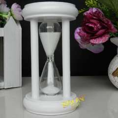 White wooden 5 - hourglass timer birthday gift novelty crafts