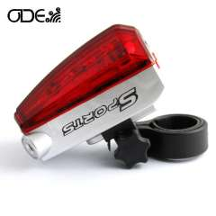 Freeshipping Bicycle tail laser light 5LED High quality warning lamp for bike sports bike rear light red laser parellel light