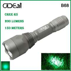 New Odepro Green Light Cree XP-G R5 Led Flashlight Aluminum Lamp CR123 \ 16340 battery Free Shipping
