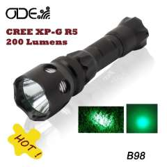 Odepro B98 Cree Green LED Flashlight Torch Signal Lamp Light Powered by 1*18650\2*CR123A(battery excluded)