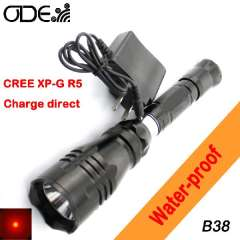Odepro 5w Cree XP-G R5 led 150 lumens one mode Led Torch Flashlight charge direct Flashlight free shipping