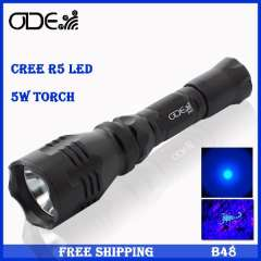 Free Mail HOT Odepro 60lm 5w Cree XP-G R5 Led Flashlight For Hunting or Fishing 18650 Flashlight Torch
