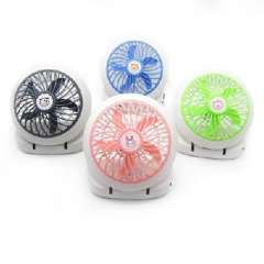 Five Leaves Desktop USB battery dual fan | Random Color