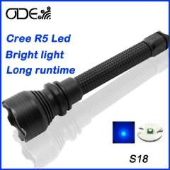 New Arrive Cree XP-G R5 Flashlight Brightness Led Flashlight ( 2*18650 rechargeable battery) High power Torch for hunting