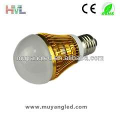 longer lifetime and high power led light bulb 3w e27