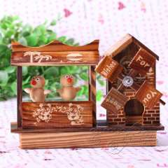Ballet rotating music box birthday gift wooden products