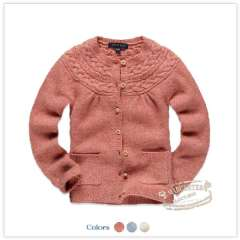 Rtw children's clothing 2012 autumn new arrival flowers o-neck wool cardigan knitted sweater rkcm13383e