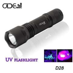 Odepro 3w purple light ultraviolet luxeon 395nm UV led flashlight aluminum alloy flash light torch free shipping
