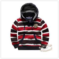 Rtw 2013 spring children's clothing stripe kangaroo pocket stand collar with a hood pullover sweatshirt rkcy23099