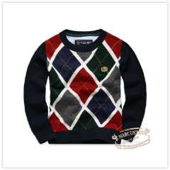Rtw children's clothing 2012 autumn new arrival z preppy style plaid sweater rkcm13425e