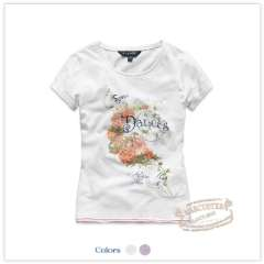 Rtw children's clothing 2012 female child summer j top 100% cotton short-sleeve T-shirt 2.21 rkct12301