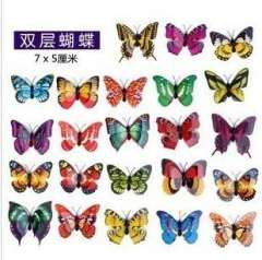 Butterfly artificial butterfly 7 double layer butterfly real child decoration wedding decoration gift