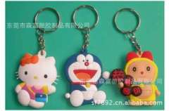 Promotional PVC key chain custom-made high quality soft PVC key chain lot of Guangdong manufacturers
