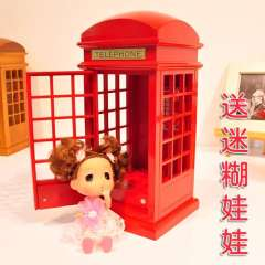 Telephone booth wool music box music box wedding gifts romantic gift girlfriend gifts
