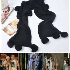 Naked marriage age Tong Jiaqian paragraph balls Scarves | Scarf thick balls | Black