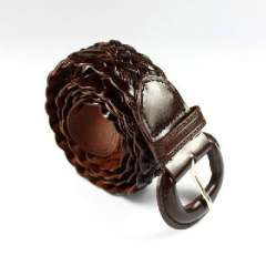 2010 New | Ms. knitting needle buckle belt / Belt | Brown