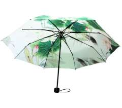 Umbrella 3 umbrella women's summer anti-uv umbrella parasol 80 painting umbrella