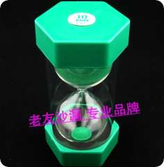Hourglass green big hourglass broken hourglass timer