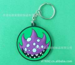 The new creative keychain, quality factory supply wholesale Exquisite PVC Key Chain