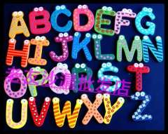 Magnetic letter refrigerator stickers Large letter a-z toy