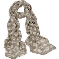 New mainstream fashion long paragraph Heroes skull Scarf - gray