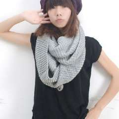 Autumn and winter | Long thick wool knit solid color scarf | Great scarf | Scarf | Grey