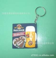 Wholesale supply of exquisite Korean keychain, silicone PVC cartoon keychain