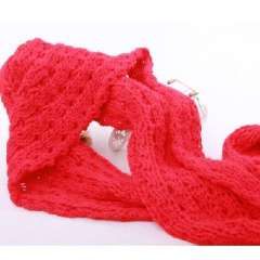 Naked marriage age Tong Jiaqian same paragraph oversized wool scarves | twist Scarf | Jacquard Scarf | Red