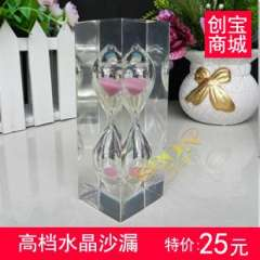 Crystal hourglass time timer girls gift souvenir home decoration