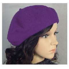 vivi magazine hot push paragraph pure wool hat painter | Purple