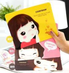 Yiwu small gift biscuits girl mouse pad