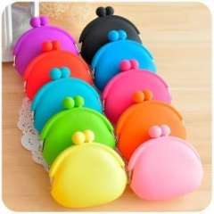 Novelty commodities send parents q coin case candy color silica gel coin purse