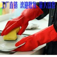 Flock printing thickening thermal hand gloves cleaning gloves dishwashing gloves