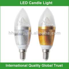 e27 e12 e14 clear led candle bulb