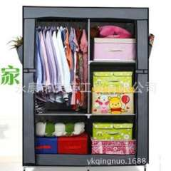 Celebrate Connaught | Simple assembly cloth wardrobe | Student Single wardrobe | trumpet Clothes Storage Cabinets | thick steel reinforcement