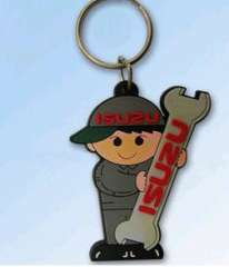 Animal cartoon character keychain | Environmental PVC keychain | a good word.