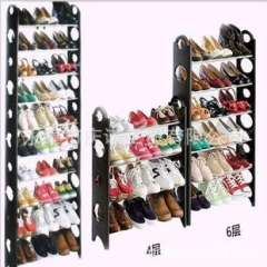 Factory direct celebration North six-layer composite shoe rack | With side panels and insulation layer Assembly shoe rack | A generation