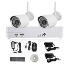4CH 1080P NVR wifi IP Security System With 2 Outdoor\Indoor 1080P IP Cameras