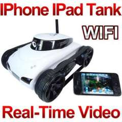 Rover App-Controlled Wireless 4Ch i-Spy RC Tank With Camera for Phone Pod Touch and Pad\RC Toy Car world of tanks