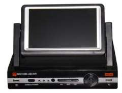 7 inch LCD DVR 8CH H.264 Full D1 Real-time Recording 1080P HDMI Network alarm CCTV DVR All in one DVR