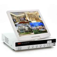 4CH DVR With 10 Inch LCD Screen H.264 D1 Resolution HDMI Port P2P