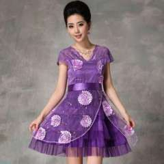 European and American women's 2013 summer new mesh Heavy dimensional embroidery beads set | Dress (Q13147)