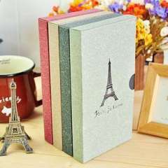 Stationery love in eiffel tower box diary notepad hard copy